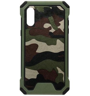 ADEL Kunststof Bumper Hardcase Hoesje voor Samsung Galaxy A70(s) - Camouflage Groen