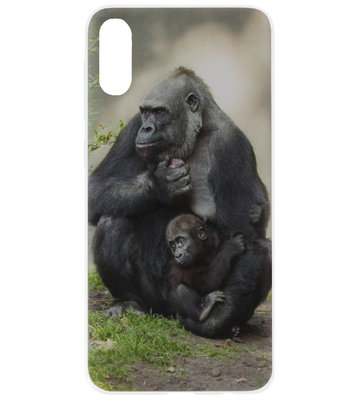 ADEL Siliconen Back Cover Softcase Hoesje voor Samsung Galaxy A70(s) - Apen Gorilla