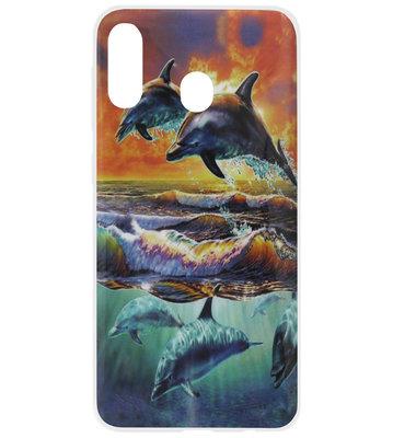 ADEL Siliconen Back Cover Softcase Hoesje voor Samsung Galaxy A40 - Dolfijn