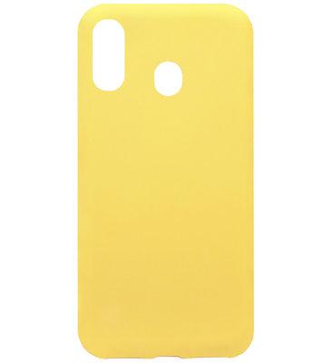 ADEL Siliconen Back Cover Softcase Hoesje voor Samsung Galaxy A40 - Geel