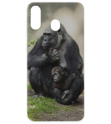 ADEL Siliconen Back Cover Softcase Hoesje voor Samsung Galaxy A40 - Apen Gorilla