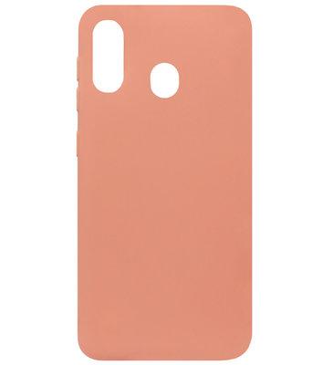 ADEL Siliconen Back Cover Softcase Hoesje voor Samsung Galaxy A40 - Oranje