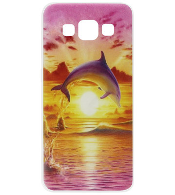 ADEL Siliconen Back Cover Softcase Hoesje voor Samsung Galaxy A5 (2015) - Dolfijn Roze