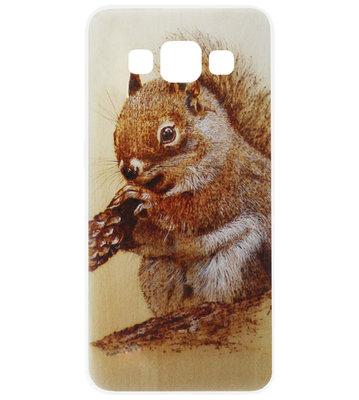 ADEL Siliconen Back Cover Softcase Hoesje voor Samsung Galaxy A5 (2015) - Eekhoorn