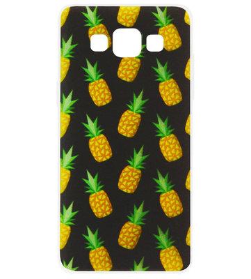 ADEL Siliconen Back Cover Softcase Hoesje voor Samsung Galaxy A5 (2015) - Ananas