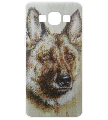 ADEL Siliconen Back Cover Softcase Hoesje voor Samsung Galaxy A5 (2015) - Duitse Herder Hond