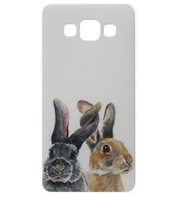 ADEL Siliconen Back Cover Softcase Hoesje voor Samsung Galaxy A5 (2015) - Konijnen