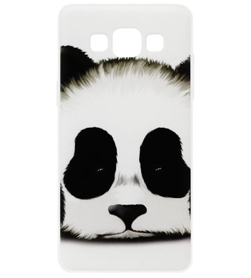 ADEL Siliconen Back Cover Softcase Hoesje voor Samsung Galaxy A5 (2015) - Panda Wit