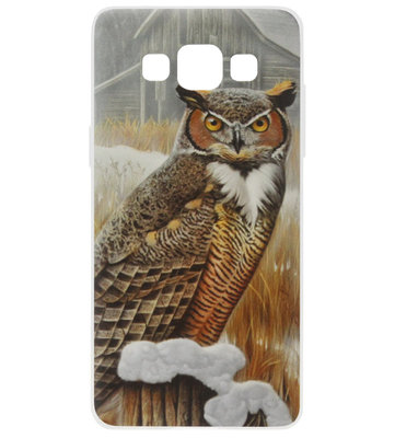 ADEL Siliconen Back Cover Softcase Hoesje voor Samsung Galaxy A5 (2015) - Uil