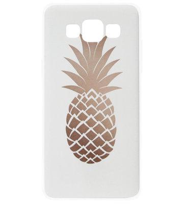 ADEL Siliconen Back Cover Softcase Hoesje voor Samsung Galaxy A5 (2015) - Ananas Goud