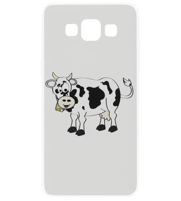 ADEL Siliconen Back Cover Softcase Hoesje voor Samsung Galaxy A5 (2015) - Koeien Zwart