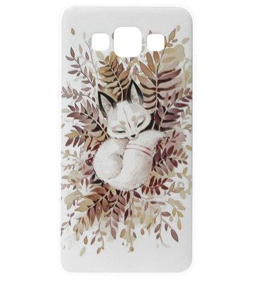 ADEL Siliconen Back Cover Softcase Hoesje voor Samsung Galaxy A5 (2015) - Vos
