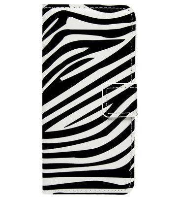 ADEL Kunstleren Book Case Portemonnee Pasjes Hoesje voor Samsung Galaxy A3 (2016) - Zebra