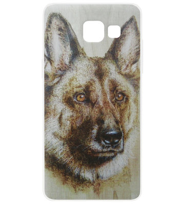 ADEL Siliconen Back Cover Softcase Hoesje voor Samsung Galaxy A3 (2016) - Duitse Herder Hond