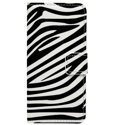 ADEL Kunstleren Book Case Portemonnee Pasjes Hoesje voor Samsung Galaxy A3 (2017) - Zebra