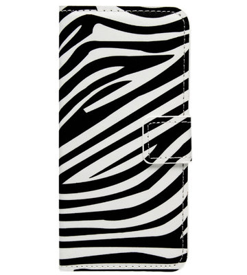 ADEL Kunstleren Book Case Portemonnee Pasjes Hoesje voor Samsung Galaxy A5 (2017) - Zebra