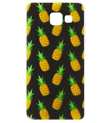 ADEL Siliconen Back Cover Softcase Hoesje voor Samsung Galaxy A3 (2017) - Ananas