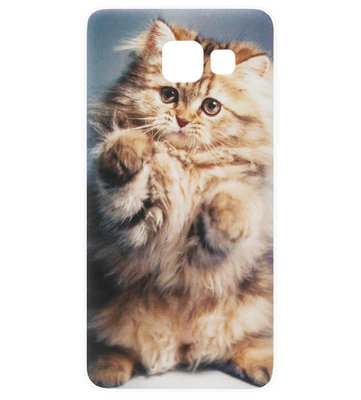 ADEL Siliconen Back Cover Softcase Hoesje voor Samsung Galaxy A3 (2017) - Katten Schattig