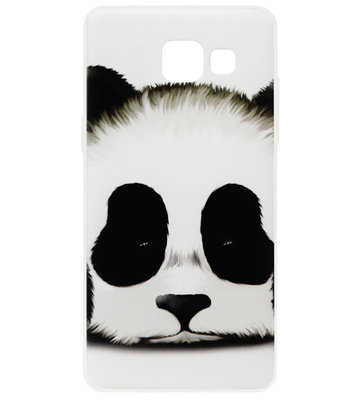 ADEL Siliconen Back Cover Softcase Hoesje voor Samsung Galaxy A3 (2017) - Panda Wit