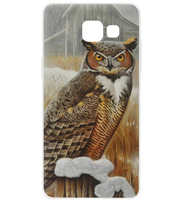 ADEL Siliconen Back Cover Softcase Hoesje voor Samsung Galaxy A3 (2017) - Uil