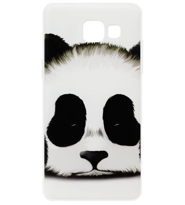 ADEL Siliconen Back Cover Softcase Hoesje voor Samsung Galaxy A5 (2017) - Panda Wit