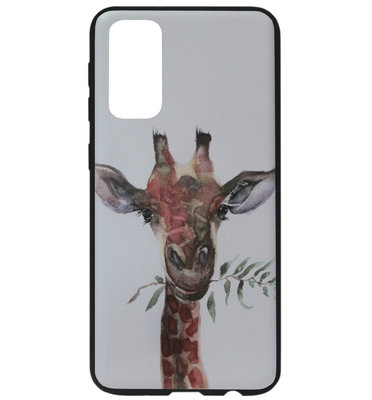 ADEL Siliconen Back Cover Softcase Hoesje voor Samsung Galaxy S20 - Giraf
