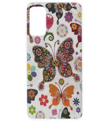 ADEL Kunststof Back Cover Hardcase Hoesje voor Samsung Galaxy S20 - Vlinder Kleur