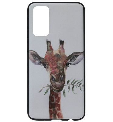 ADEL Siliconen Back Cover Softcase Hoesje voor Samsung Galaxy S20 Plus - Giraf