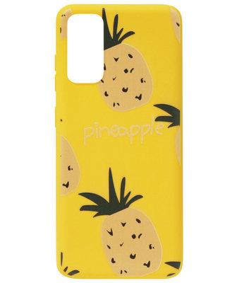 ADEL Siliconen Back Cover Softcase Hoesje voor Samsung Galaxy S20 - Ananas Geel