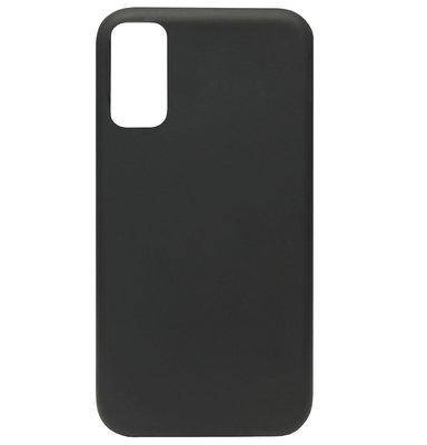ADEL Premium Siliconen Back Cover Softcase Hoesje voor Samsung Galaxy S20 - Zwart