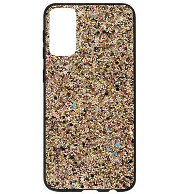 ADEL Kunststof Back Cover Hardcase Hoesje voor Samsung Galaxy S20 Plus - Bling Bling Glitter Goud