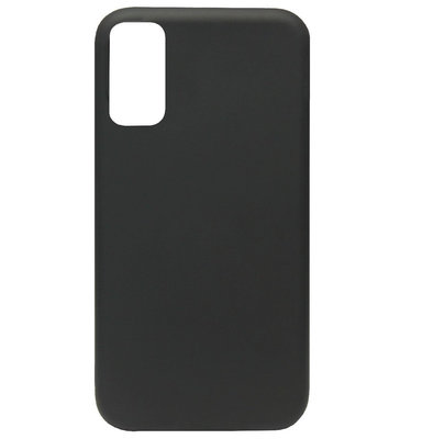 ADEL Premium Siliconen Back Cover Softcase Hoesje voor Samsung Galaxy S20 Ultra - Zwart