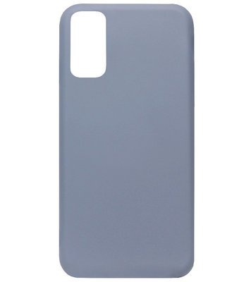 ADEL Premium Siliconen Back Cover Softcase Hoesje voor Samsung Galaxy S20 Ultra - Lavendel Blauw Paars