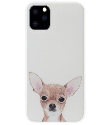 ADEL Siliconen Back Cover Softcase Hoesje voor iPhone 11 - Chihuahua Hond