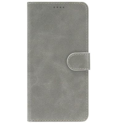 ADEL Kunstleren Book Case Portemonnee Pasjes Hoesje voor iPhone 11 - Grijs