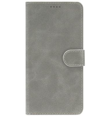 ADEL Kunstleren Book Case Portemonnee Pasjes Hoesje voor iPhone 11 Pro - Grijs