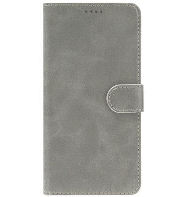 ADEL Kunstleren Book Case Portemonnee Pasjes Hoesje voor iPhone 11 Pro Max - Grijs