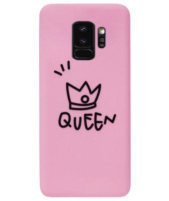 ADEL Siliconen Back Cover Softcase Hoesje voor Samsung Galaxy S9 - Queen Roze