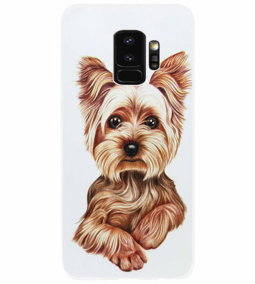 ADEL Siliconen Back Cover Softcase Hoesje voor Samsung Galaxy S9 - Yorkshire Terrier Hond