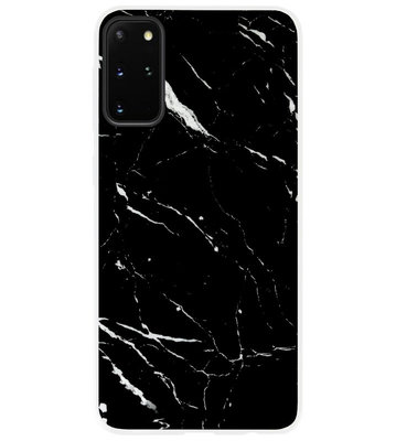 ADEL Siliconen Back Cover Softcase Hoesje voor Samsung Galaxy S20 Plus - Marmer Zwart