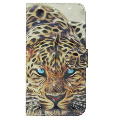 ADEL Kunstleren Book Case Portemonnee Pasjes Hoesje voor iPhone XS/ X - Tijger Oranje