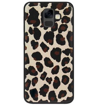 ADEL Siliconen Back Cover Softcase Hoesje voor Samsung Galaxy A6 Plus (2018) - Luipaard Bruin