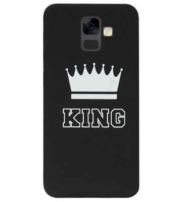 ADEL Siliconen Back Cover Softcase Hoesje voor Samsung Galaxy A6 Plus (2018) - King Zwart
