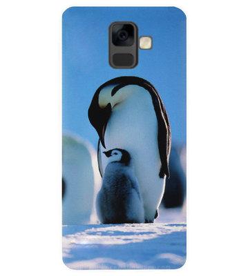 ADEL Kunststof Back Cover Hardcase Hoesje voor Samsung Galaxy A6 Plus (2018) - Pinguin