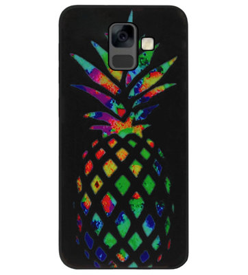 ADEL Siliconen Back Cover Softcase Hoesje voor Samsung Galaxy A6 Plus (2018) - Ananas Kleur