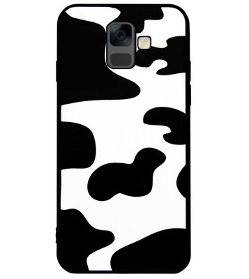 ADEL Siliconen Back Cover Softcase Hoesje voor Samsung Galaxy A6 Plus (2018) - Koeienhuid