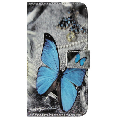 ADEL Kunstleren Book Case Portemonnee Pasjes Hoesje voor Samsung Galaxy A6 Plus (2018) - Vlinder