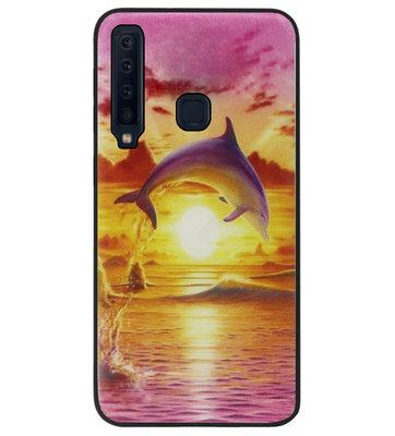 ADEL Siliconen Back Cover Softcase Hoesje voor Samsung Galaxy A9 (2018) - Dolfijn Roze