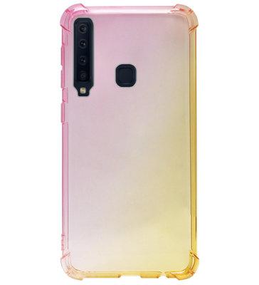 ADEL Siliconen Back Cover Softcase Hoesje voor Samsung Galaxy A9 (2018) - Kleurovergang Geel Roze