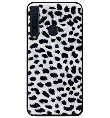 ADEL Siliconen Back Cover Softcase Hoesje voor Samsung Galaxy A9 (2018) - Luipaard Wit